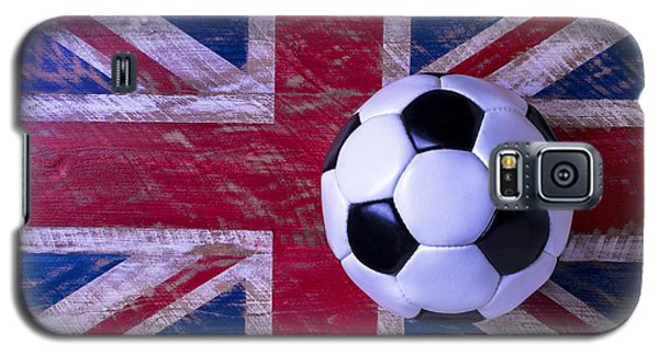 British Flag And Soccer Ball Galaxy S5 Case