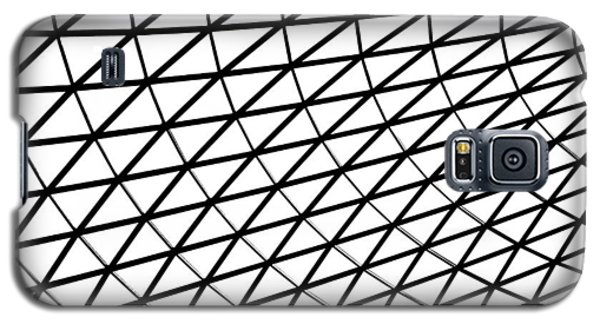 Galaxy S5 Case featuring the photograph British Museum Geometry by Rona Black