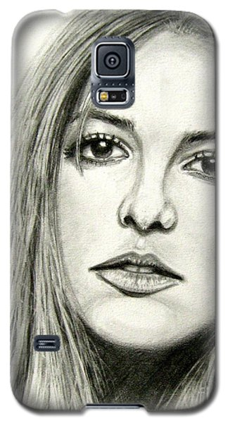 Galaxy S5 Case featuring the drawing Britney Spears by Patrice Torrillo