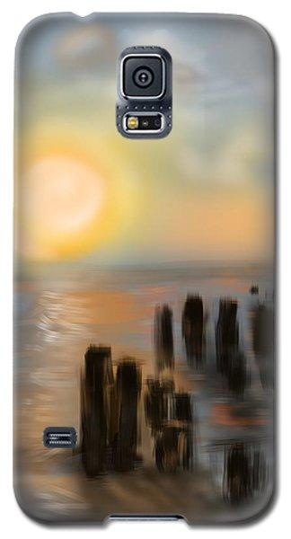 Galaxy S5 Case featuring the digital art Broken Dock by Christine Fournier