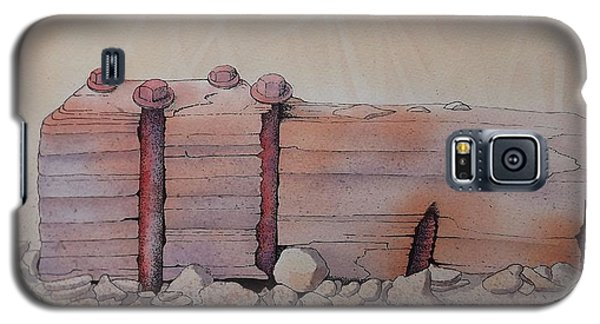 Galaxy S5 Case featuring the painting Broken Dock Seward Alaska by Richard Faulkner