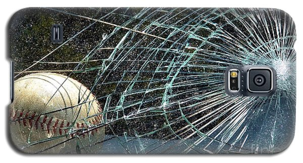 Galaxy S5 Case featuring the photograph Broken Window by Robyn King