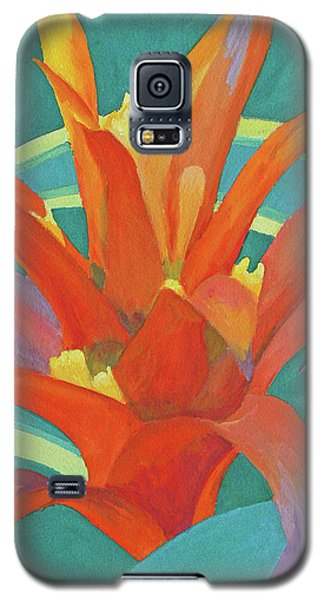 Galaxy S5 Case featuring the painting Bromeliad Glow by Margaret Saheed