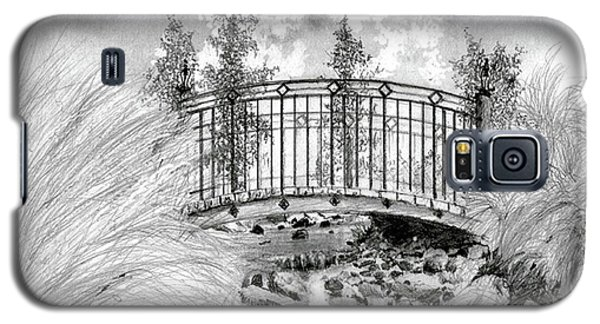 Galaxy S5 Case featuring the drawing Brook To Lake Mira Mar by Jim Hubbard