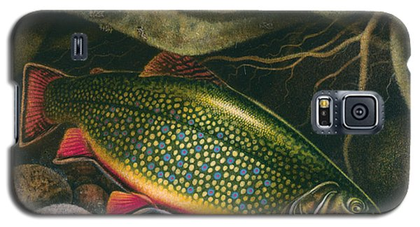 Galaxy S5 Case featuring the painting Brook Trout Lair by JQ Licensing