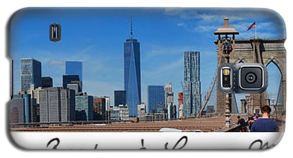Brooklyn Bridge And Lower Manhattan Script Galaxy S5 Case