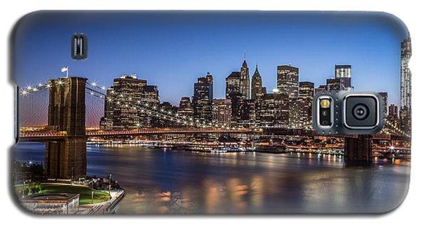 Galaxy S5 Case featuring the photograph Brooklyn Bridge by Mihai Andritoiu
