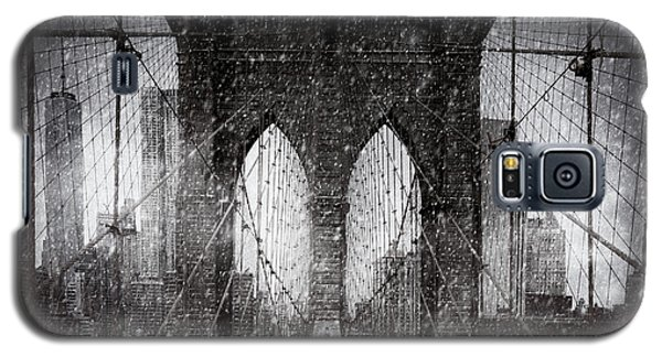 Brooklyn Bridge Snow Day Galaxy S5 Case