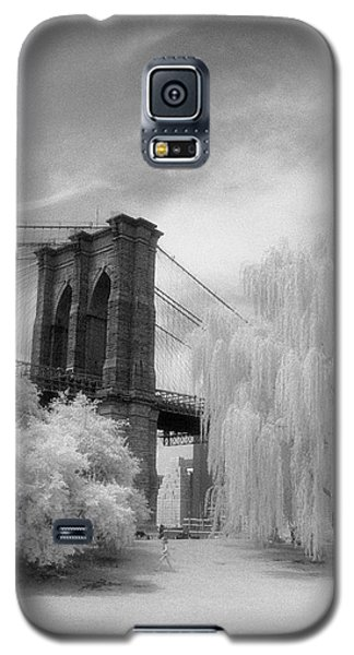 Galaxy S5 Case featuring the photograph Brooklyn Bridge Willows by Dave Beckerman