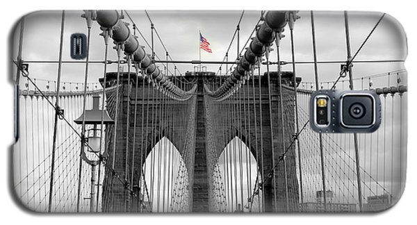 Brooklyn Bridge With American Flag Galaxy S5 Case