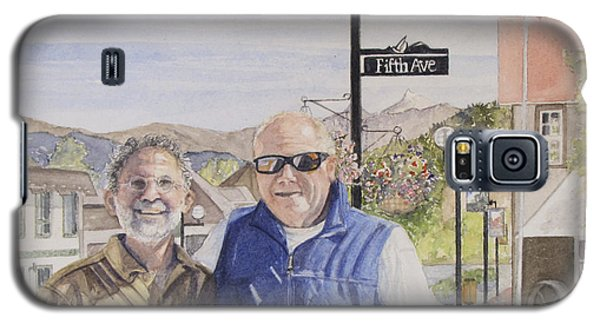 Galaxy S5 Case featuring the painting Bros by Carol Flagg