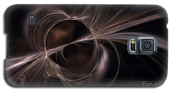 Brown Abstract Galaxy S5 Case by Arlene Sundby
