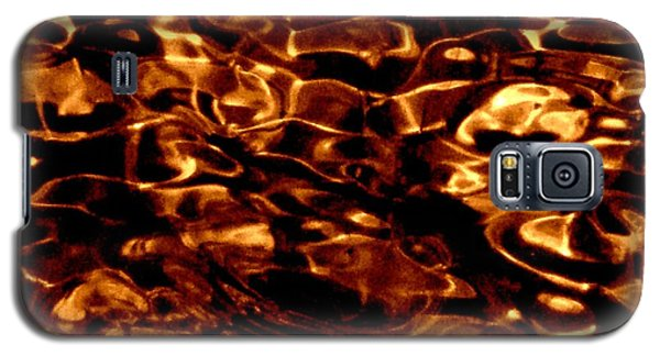 Brown Abstract Plants Galaxy S5 Case