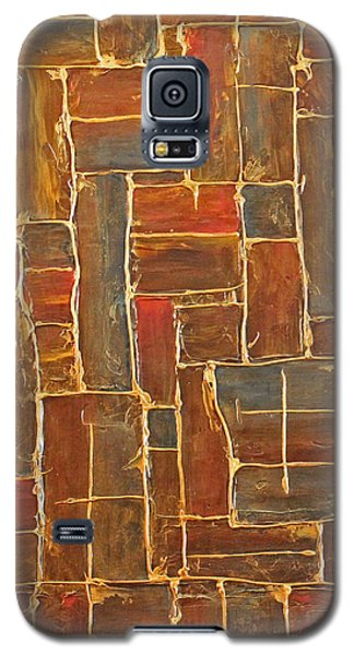 Brown And Gold  Galaxy S5 Case