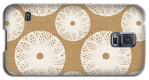 Brown And White Floral Galaxy S5 Case by Linda Woods