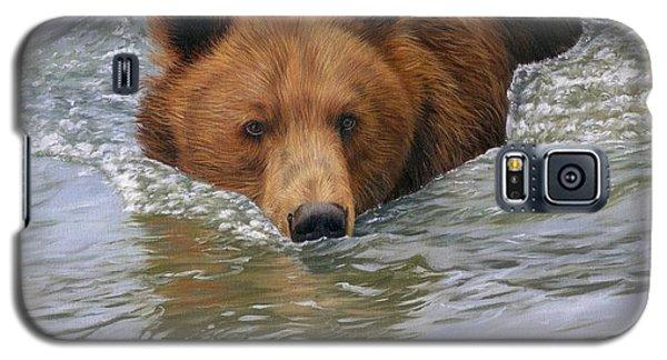 Brown Bear Galaxy S5 Case - Brown Bear by David Stribbling