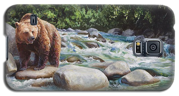 Brown Bear On The Little Susitna River Galaxy S5 Case