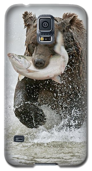 Brown Bear With Salmon Catch Galaxy S5 Case