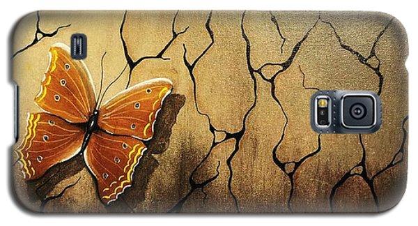 Brown Butterfly Galaxy S5 Case by Edwin Alverio