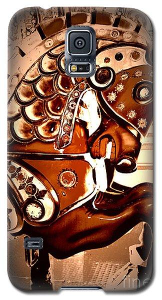 Brown Carousel Horse Galaxy S5 Case