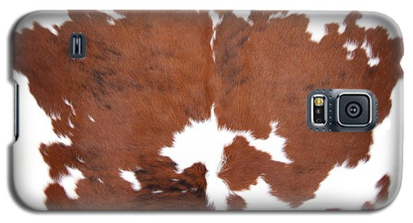 Brown Cowhide Galaxy S5 Case by Gunter Nezhoda
