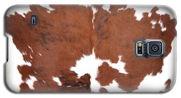 Brown Cowhide Galaxy S5 Case