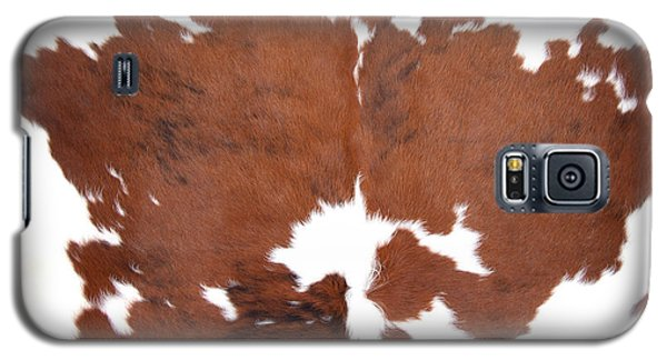 Brown Cowhide Galaxy S5 Case