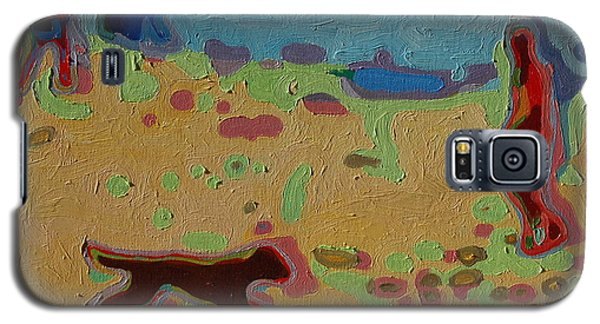 Galaxy S5 Case featuring the painting Brown Dog On Beach by Thomas Bertram POOLE