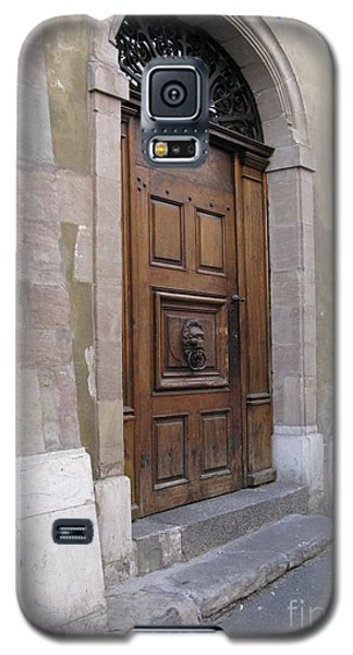 Galaxy S5 Case featuring the photograph Brown Door by Arlene Carmel