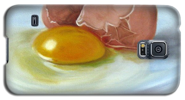 Galaxy S5 Case featuring the painting Brown Egg Study by LaVonne Hand