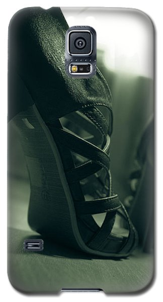 Brown Leather High Heel Shoes Galaxy S5 Case