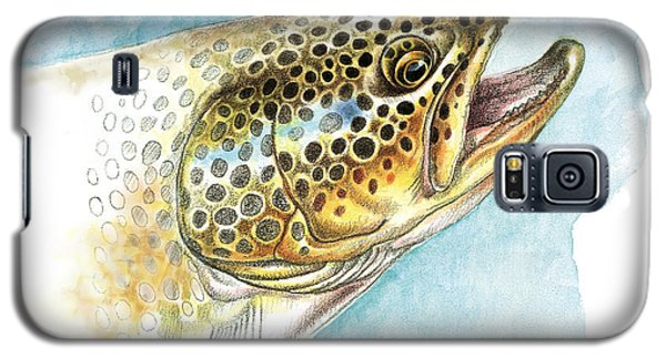 Trout Galaxy S5 Case - Brown Trout Study by JQ Licensing