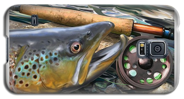 Brown Trout Sunset Galaxy S5 Case by Craig Tinder