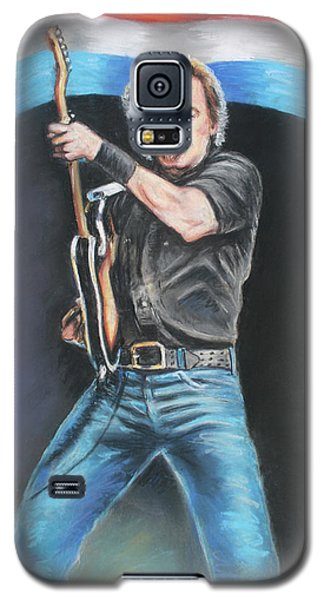 Galaxy S5 Case featuring the painting Bruce Springsteen  by Melinda Saminski