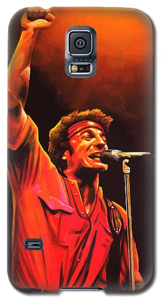 Bruce Springsteen Painting Galaxy S5 Case by Paul Meijering
