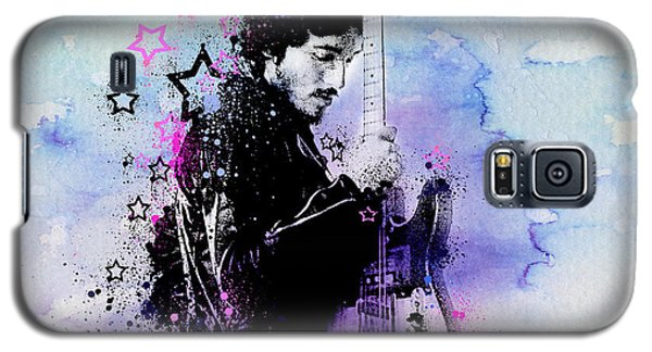 Bruce Springsteen Splats And Guitar 2 Galaxy S5 Case by Bekim Art