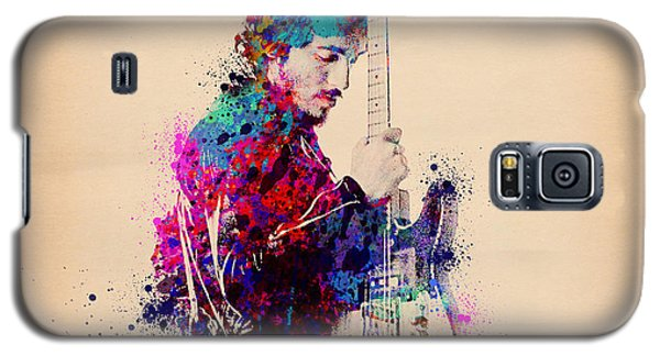 Bruce Springsteen Splats And Guitar Galaxy S5 Case by Bekim Art