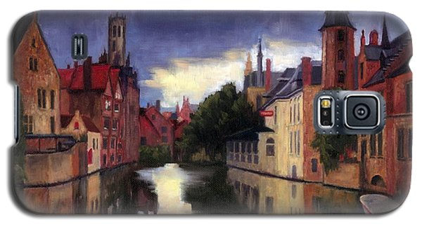 Bruges Belgium Canal Galaxy S5 Case by Janet King