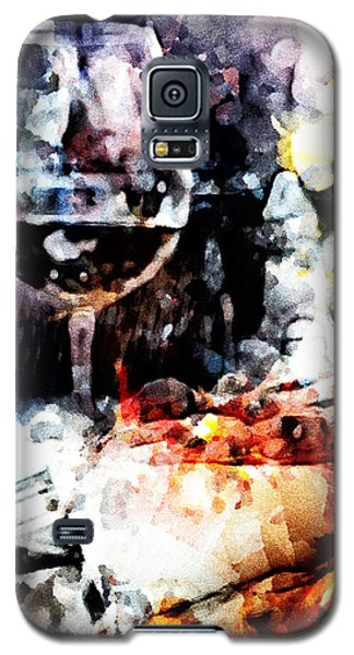 Galaxy S5 Case featuring the digital art Bruschetta And Red Wine by Andrea Barbieri