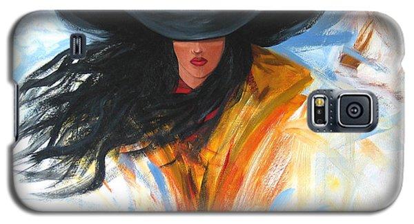 Brushstroke Cowgirl Galaxy S5 Case