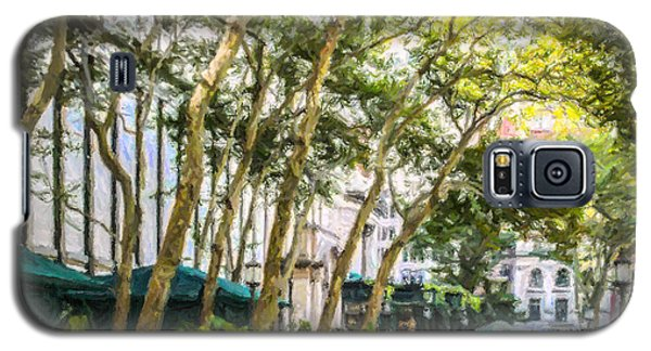 Bryant Park Midtown New York Usa Galaxy S5 Case by Liz Leyden