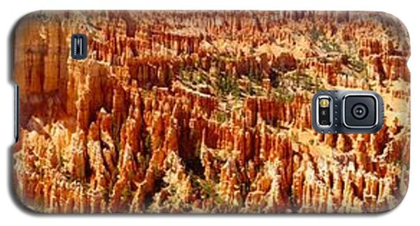 Galaxy S5 Case featuring the photograph Bryce Canyon Utah Panoramic by Kathy Churchman