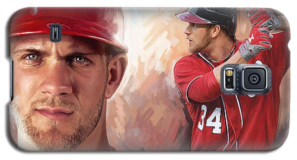 Galaxy S5 Case featuring the painting Bryce Harper Artwork by Sheraz A