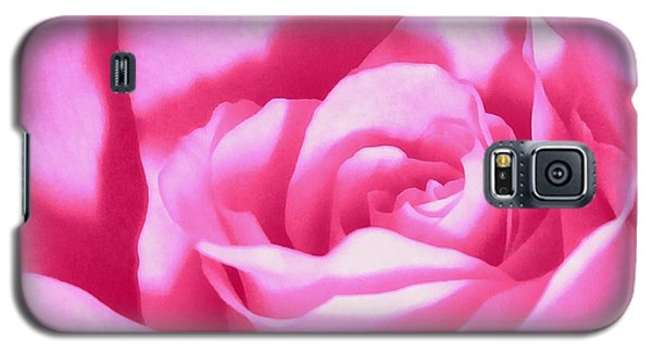 Galaxy S5 Case featuring the photograph Bubble Gum Pink Rose by Janine Riley