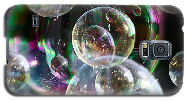 Galaxy S5 Case featuring the photograph Bubbles And More Bubbles by Nareeta Martin