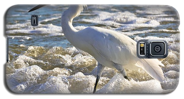 Bubbles Around Snowy Egret Galaxy S5 Case