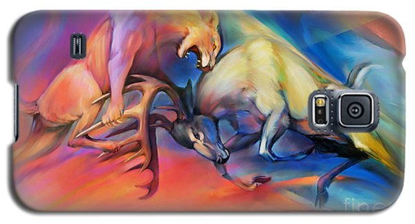 Galaxy S5 Case featuring the painting Buck Off by Rob Corsetti