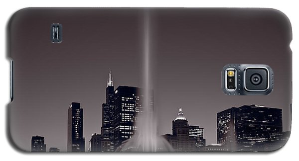 Buckingham Fountain Nightlight Chicago Bw Galaxy S5 Case