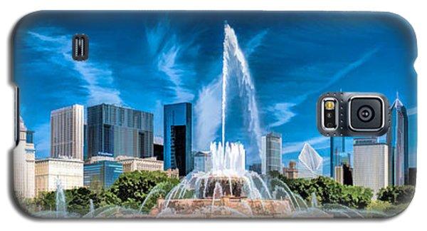 Buckingham Fountain Skyline Panorama Galaxy S5 Case