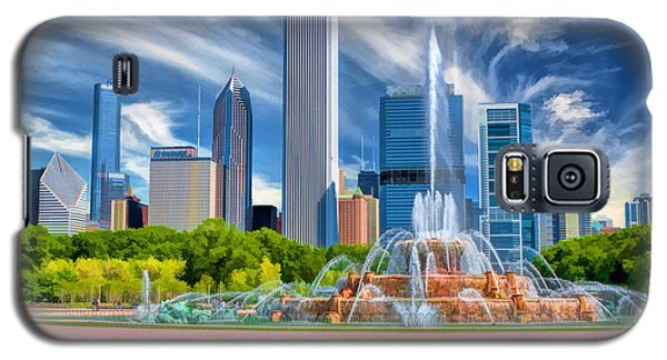 Buckingham Fountain Skyscrapers Galaxy S5 Case